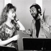 Jodi Benson and Samuel E. Wright from The Little Mermaid