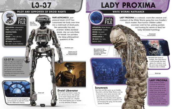 l3-37 and lady proxima character encyclopedia pages