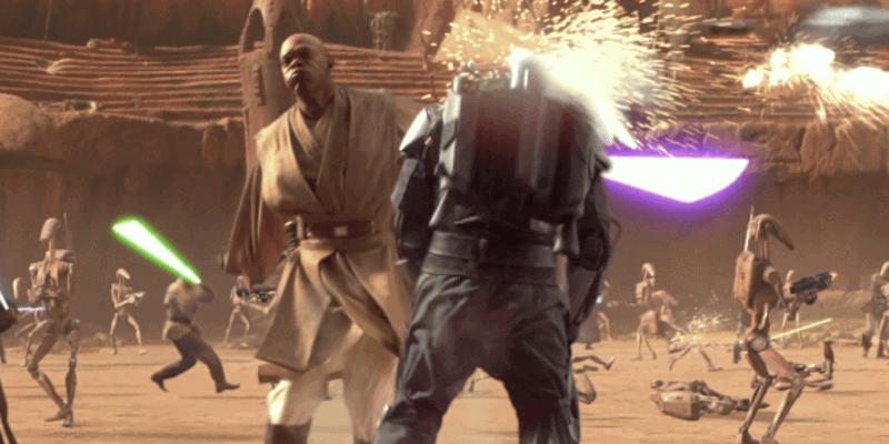 mace windu and jango fett attack of the clones