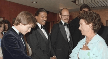 mark hamill and billy dee williams meeting elizabeth II