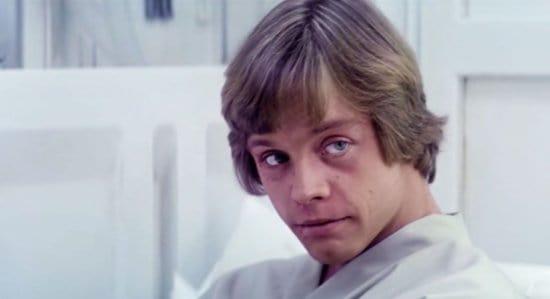 mark hamill as luke skywalker in empire strikes back