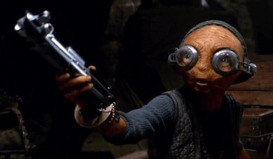 Maz Kanata in The Force Awakens