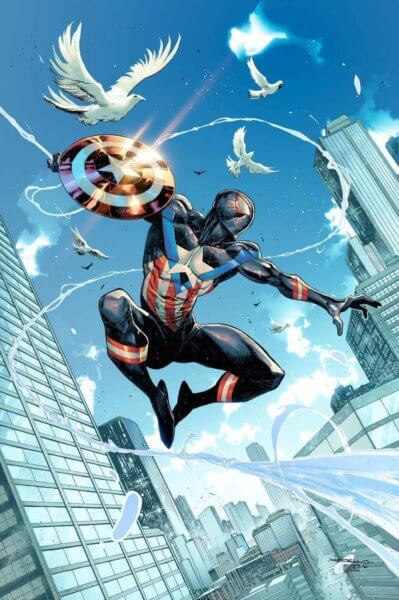 Miles Morales as a Spider-Man inspired Captain America