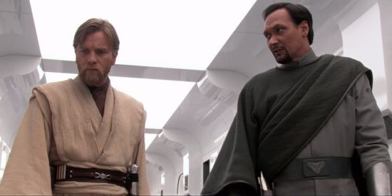 obi-wan kenobi (left) and bail organa (right) in star wars