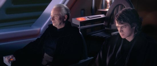palpatine (left) and anakin skywalker (right)