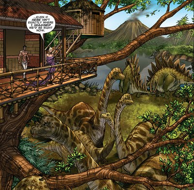 savage land treehouse dinosaurs