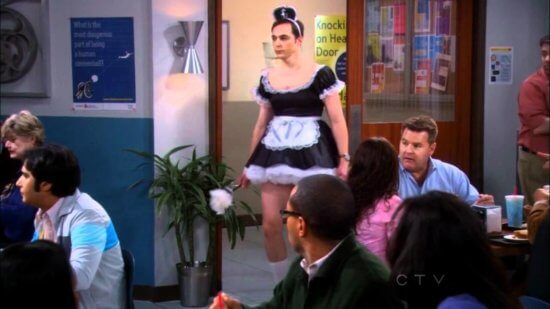 sheldon cooper french maid costume