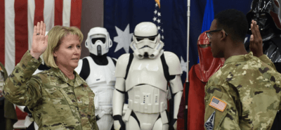 space force swearing in ceremony star wars characters