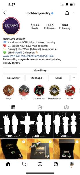 star wars crystal rocklove instagram post