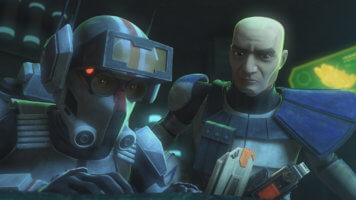 tech (left) and captain rex (right) in the bad batch