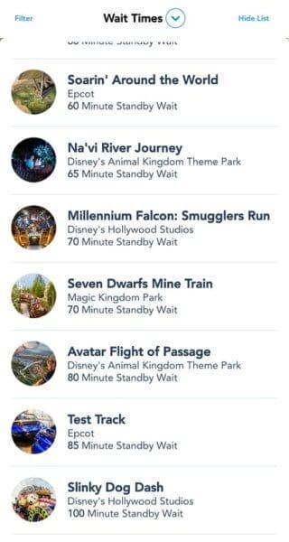 Wait Times In Walt Disney World