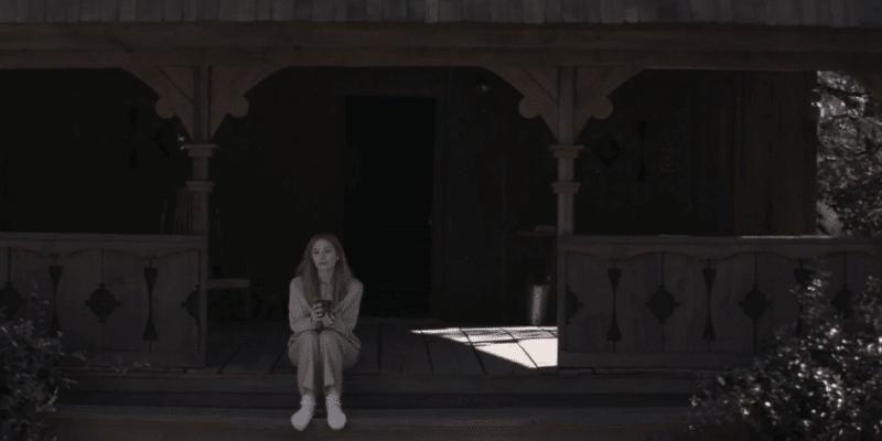 wandavision post credits scene wanda on cabin porch