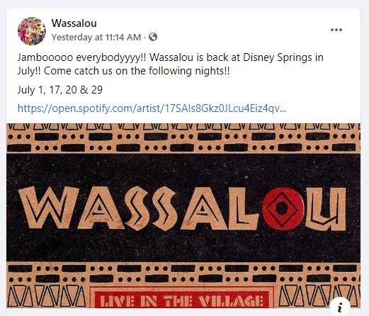 Wassalou Band In Disney's Animal Kingdom