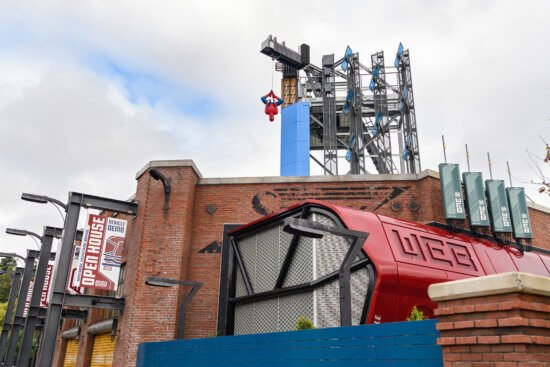 web slingers ride at avengers campus exterior