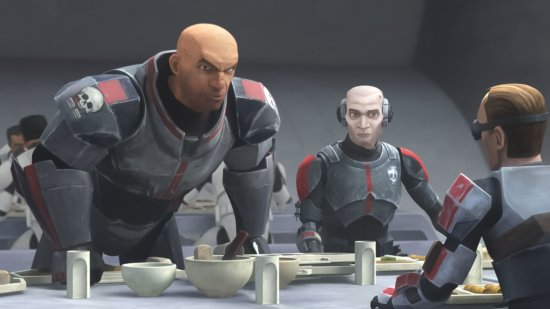 wrecker cafeteria scene in star wars the bad batch episode 1