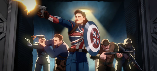 Hayley Atwell voiced Captain Carter (center) and the Howling Commandos in Marvel Studios' WHAT IF…? exclusively on Disney+