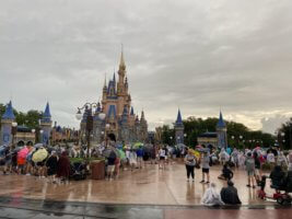 crowds magic kingdom fireworks