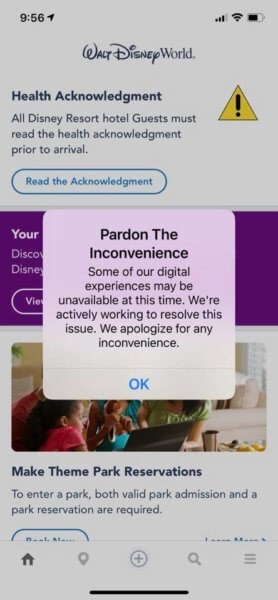 my disney experience outage