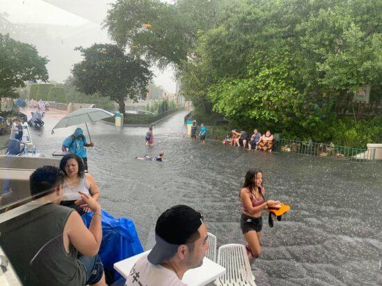 magic kingdom flooded rain
