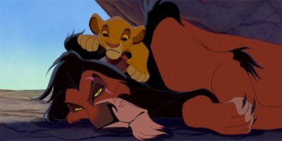 simba and scar the lion king
