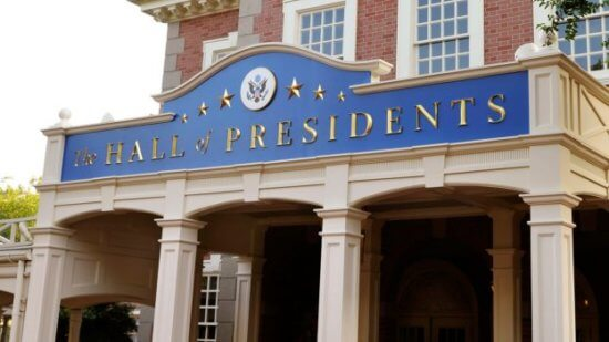 Hall of Presidents at magic kingdom