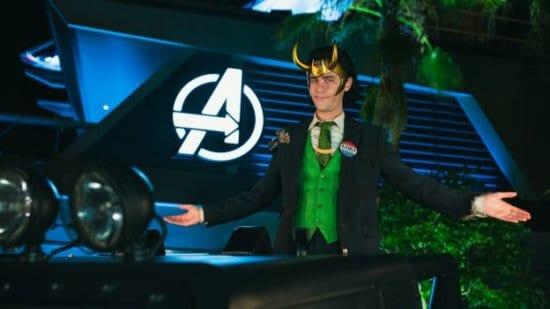 President Loki at avengers campus at disney California adventure