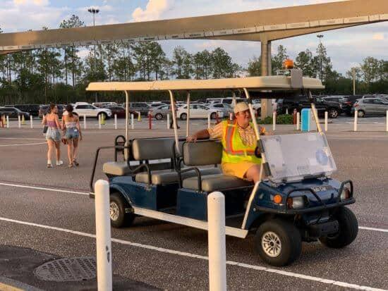 EPCOT Cast Member Golf Cart