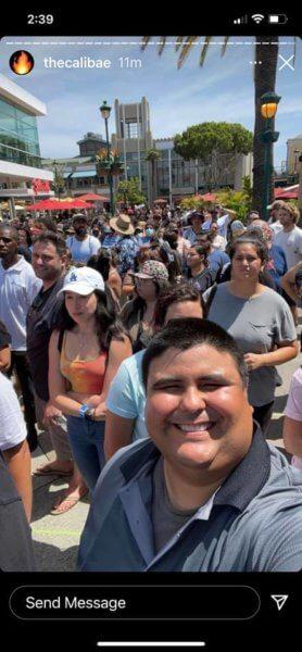Downtown Disney crowd