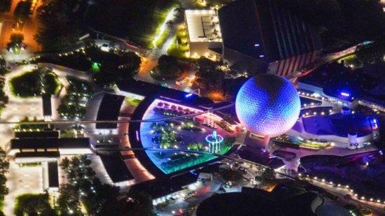 vue aérienne d'epcot