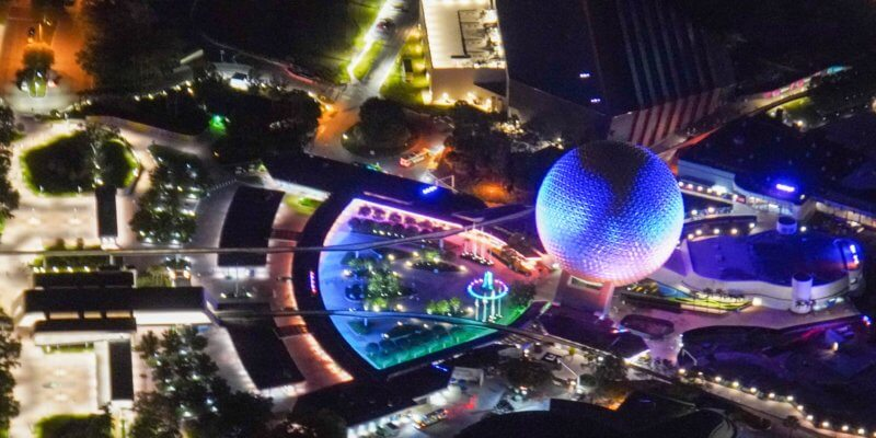 aerial view epcot