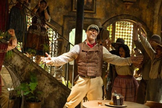 Dwayne johnson as Skipper Frank in Disney's Jungle Cruise movie