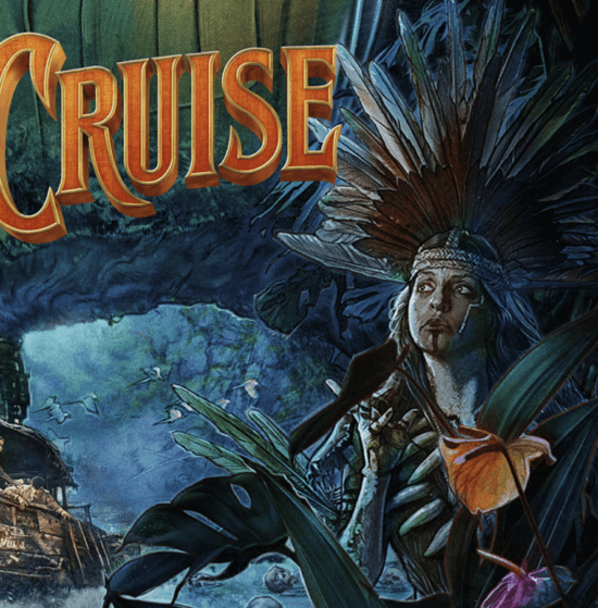 Trader Sam in the jungle cruise movie poster