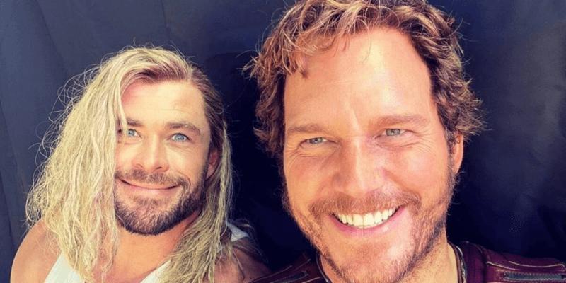 left, Chris Hemsworth, right, Chris Pratt
