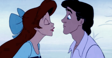 left Ariel, right Prince Eric