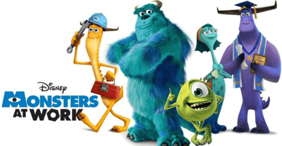 Monsters at Work title card