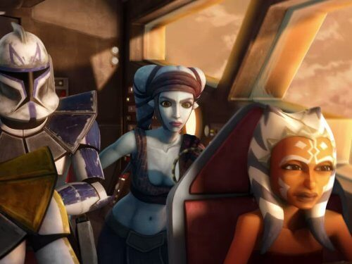 aayla secura and ahsoka tano in starship