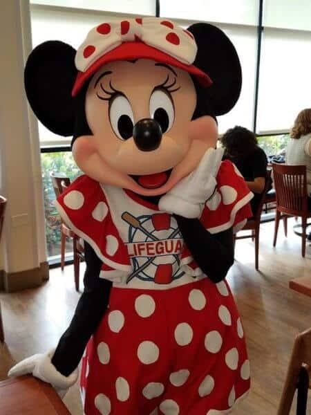 Lifeguard Minnie at PCH Grill