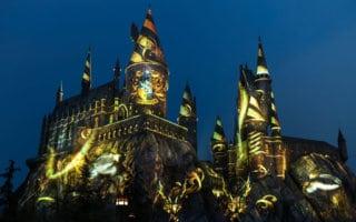 Nighttime Lights at Hogwarts