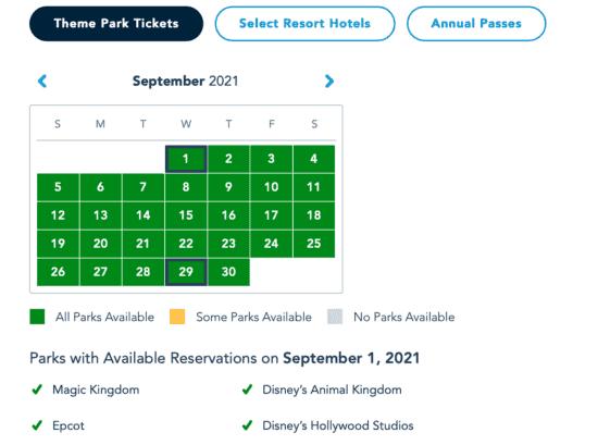 magic kingdom park pass