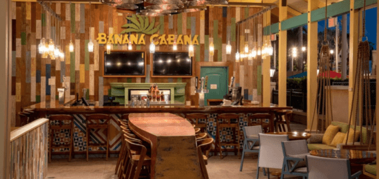 banana cabana caribbean beach