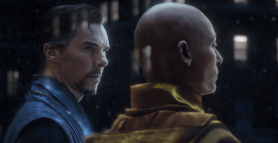 (left) Benedict Cumberbatch as Doctor Strange and (right) Tilda Swinton asthe Ancient One in the astral plane