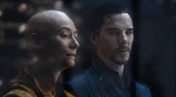 The Ancient One (left) and Doctor Strange (right)