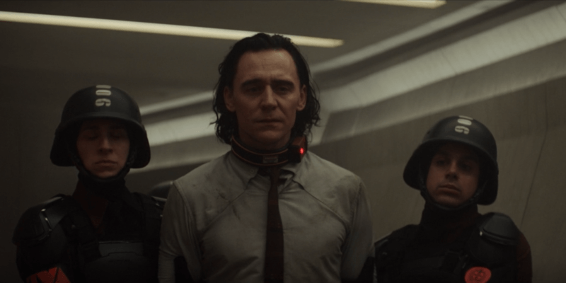 Loki being arrested by the TVA