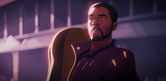 Animated Chadwick Boseman as T'Challa aka Star-Lord in What if