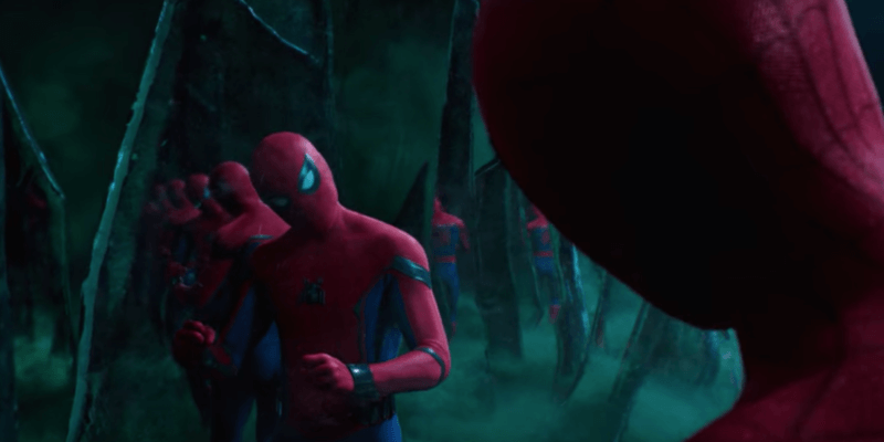 Multiple versions of Spider-Man