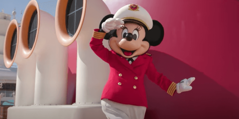 Minnie on the Disney Dream