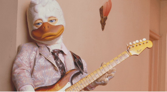 Howard the Duck with guitar