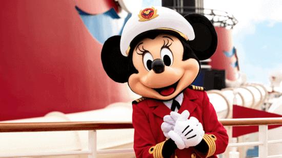 Minnie Mouse aboard the Disney Magic