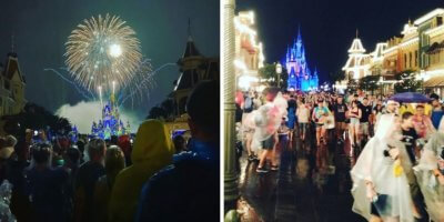 magic kingdom crowds fireworks
