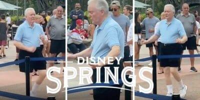 man dancing at disney springs